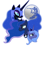 Three Luna Moon by sirhcx