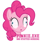 PINKIE.EXE Has Stopped Working - Shirt Design