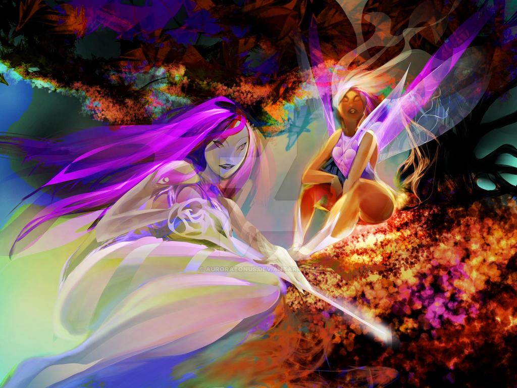 Violet idyll by Auroraeonus