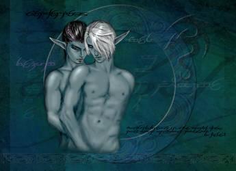 Mage and Warrior by Bezum