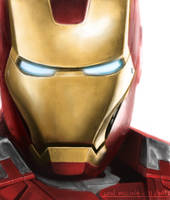 Iron Man - portrait by artlon