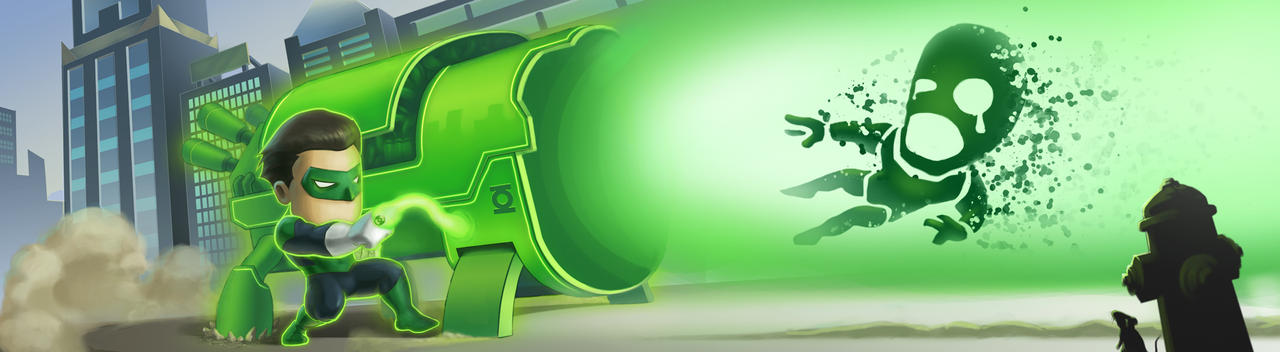 Green Lantern - Blaster Cannon by artlon