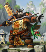 Pandaren Warrior - Zhung He by artlon