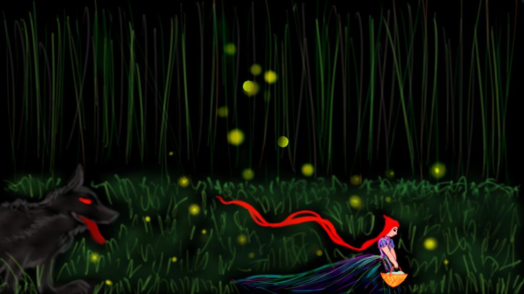 Fireflies warning the Red (Digital Original) by starmoon2208