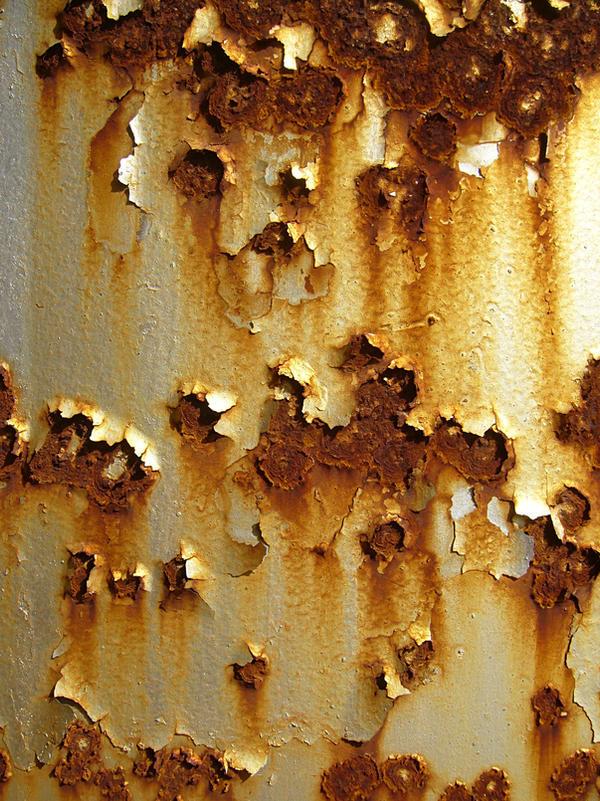 Rusty tank surface