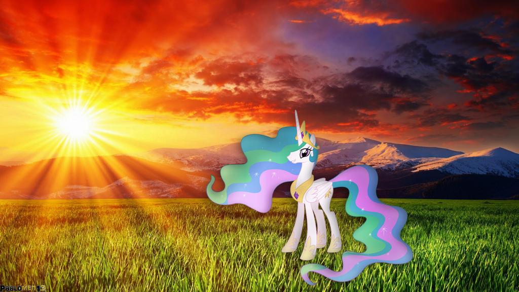 Princess Celestia Sunset by pablomen13