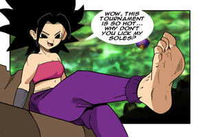 Caulifla wants you to worship her feet
