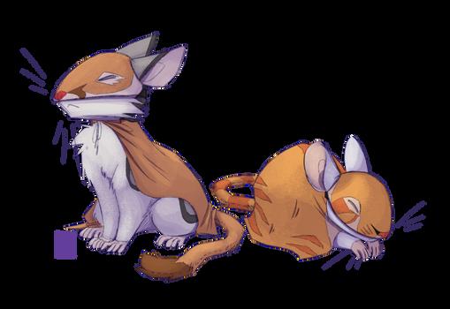[halloween exchange] mice, but cats
