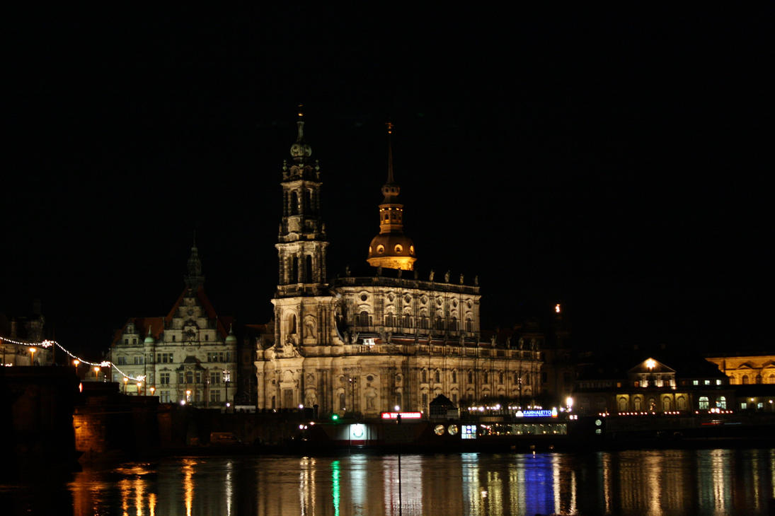 View to the Hofkirche Dresden by LoveForDetails