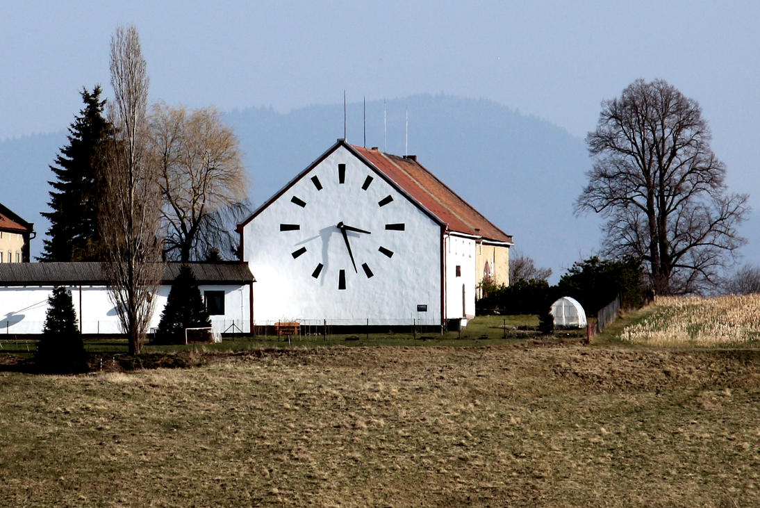 Clock at house by LoveForDetails