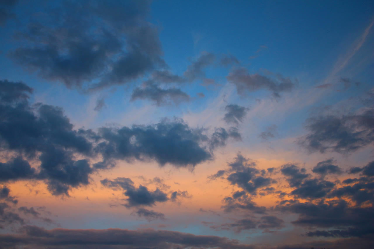 colored cloudy sky on sundown by LoveForDetails
