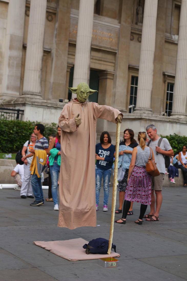 London: Flying Yoda by LoveForDetails