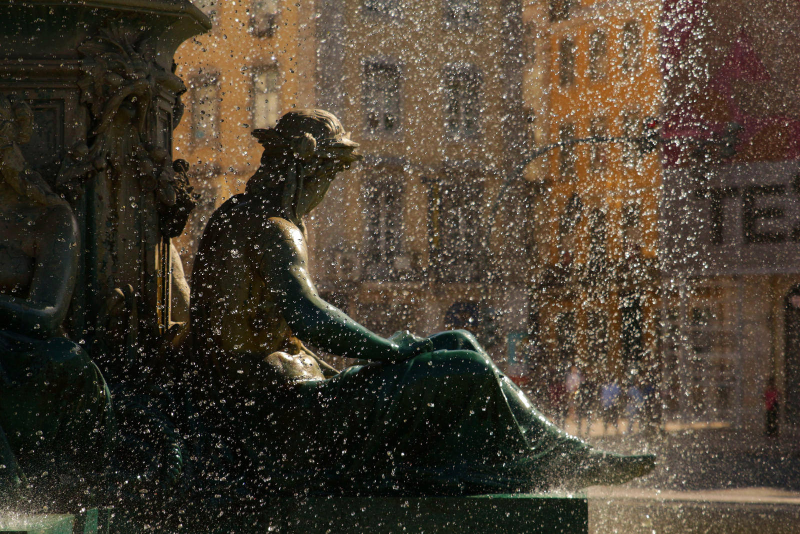 Lisboa - Water on Statue by LoveForDetails