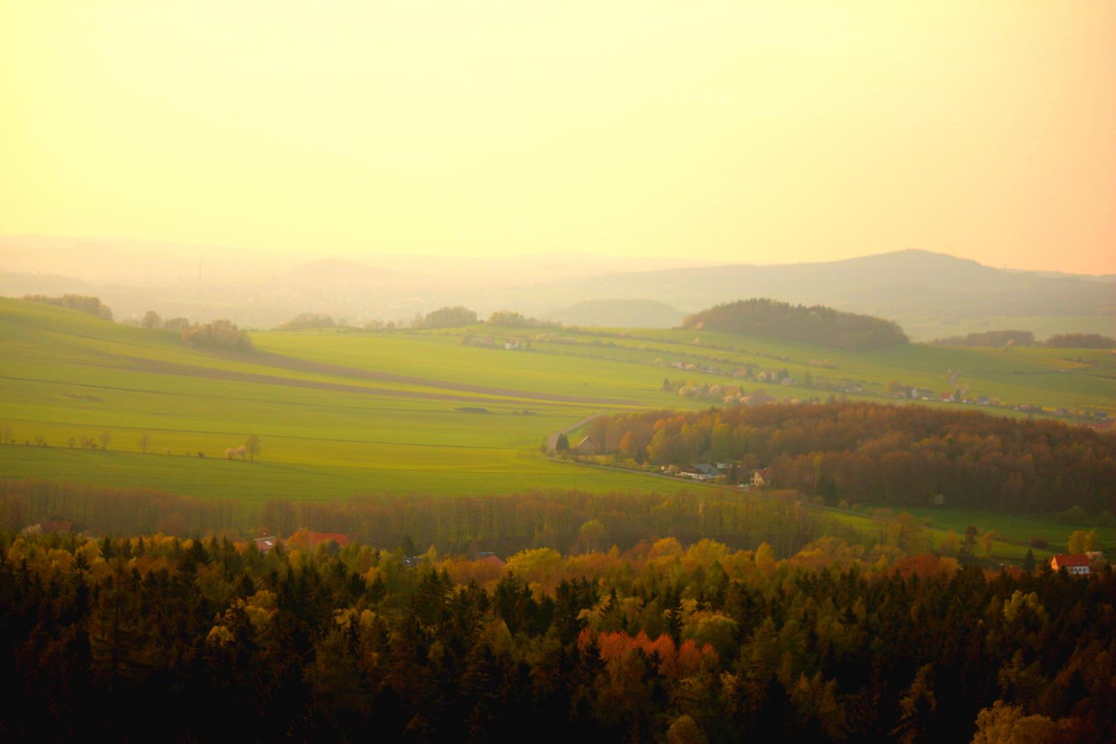 foggy landscape by LoveForDetails