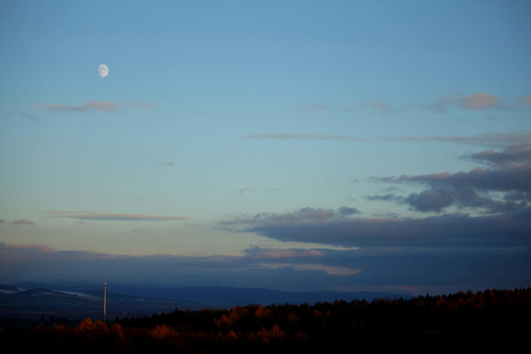 Moon in Landscape by LoveForDetails