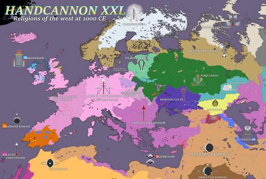 HANDCANNON XXL religions map