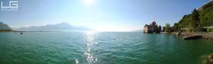 Montreux, Switzerland panorama 2