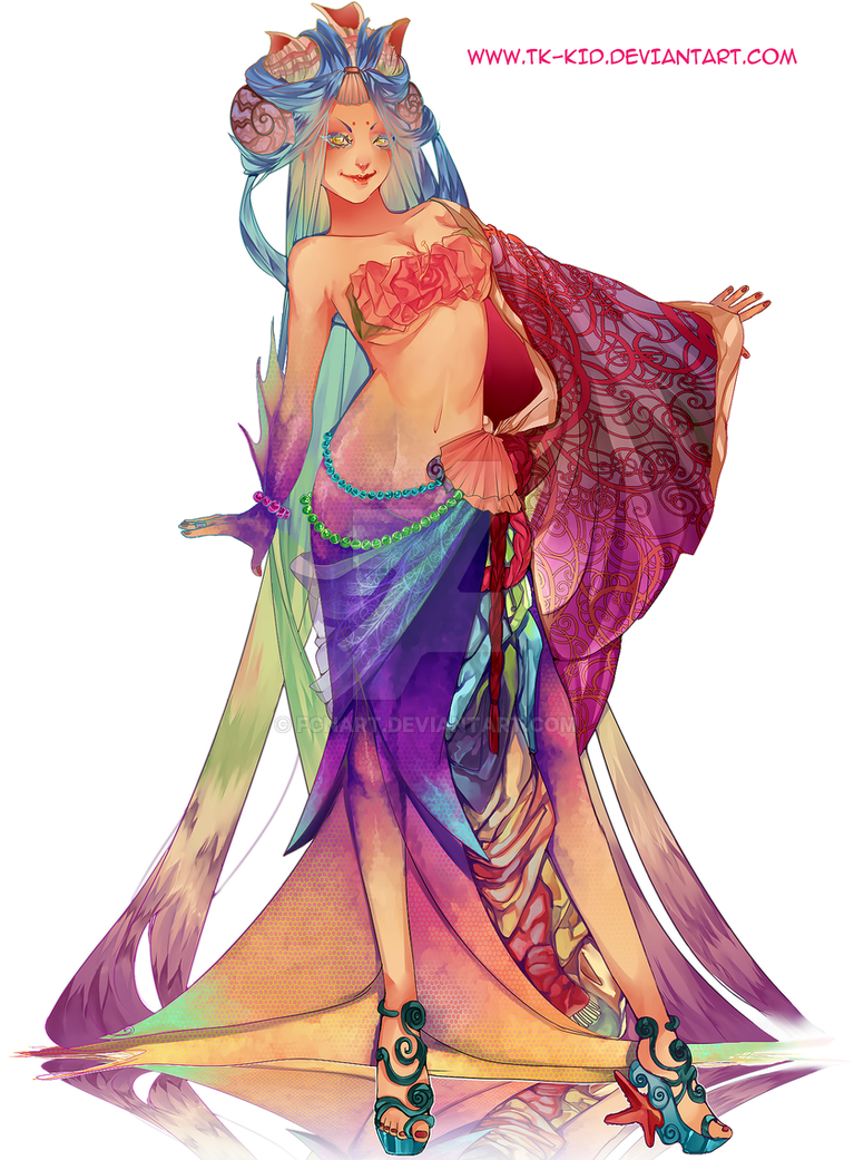 Mermaid Queen ADOPTABLE Auction:{Closed} by FCNart