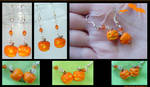 Halloween Pumpkin Earrings by AlexandraKnickel