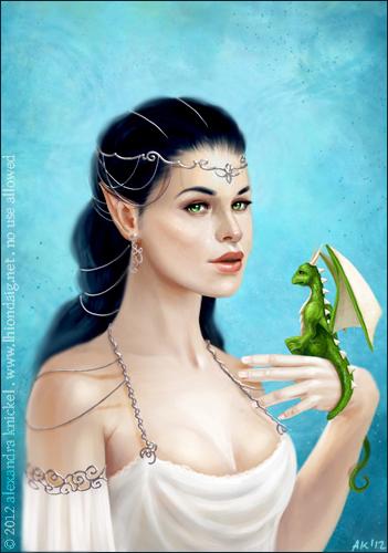 Elvish Noble by AlexandraKnickel