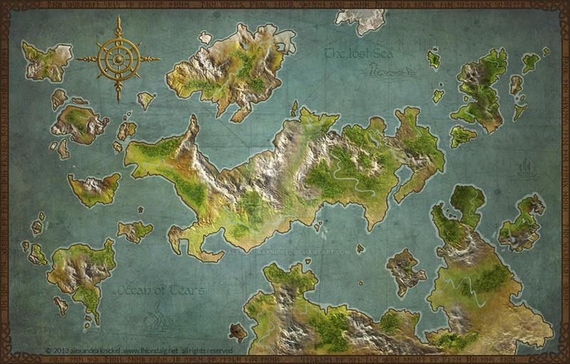 Game Worldmap by AlexandraKnickel