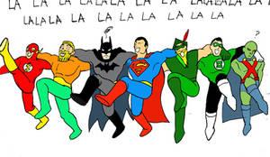 Justice League- Men in Tights