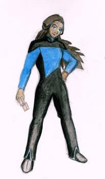 Katara as a Starfleet Officer