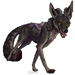 Demon Coyote - Commission by InstantCoyote