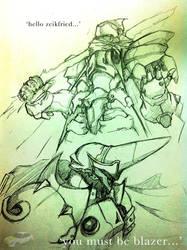 Hot Fencer Meets Quarter Knight by AxelBlythe