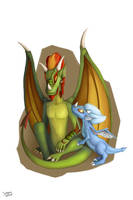 Firewing and Yuki by ServantofEntropy