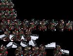 Mandalorian sprite sheet X2 zoom