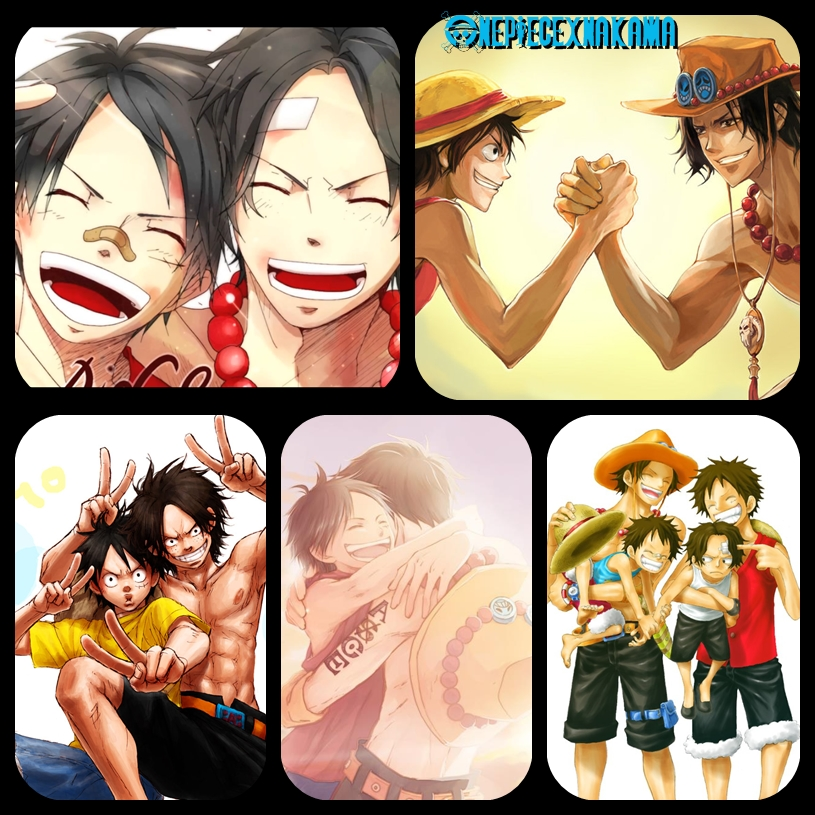 One Piece Ace And Luffy Wallpaper One piece luffy-ace byOne Piece Wallpaper Ace And Luffy
