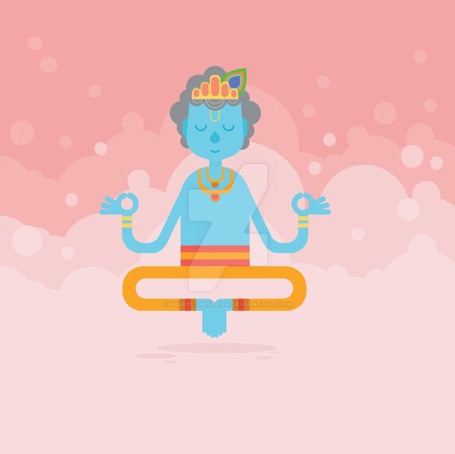 Krishna Janmashtaml Card by MishellMisheva