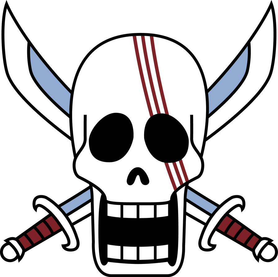 Shanks' Flag by zerocustom1989 on DeviantArt Red Hair Pirates Logo