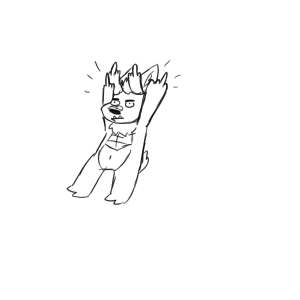 I'll Draw Your Fursona Holding Up Their Middle Fingers