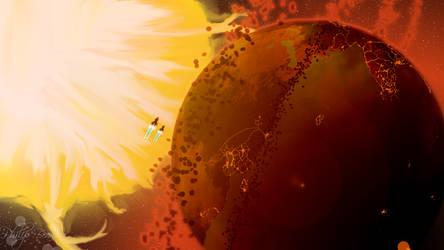 Flame Planet by CresentXav