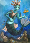 Reef mermaid by ghostofdestruction