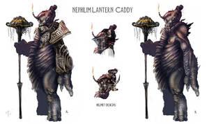 Nephilim lantern Caddy by Vincent-Covielloart