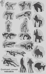 Silhouettes and concept sketches. by Vincent-Covielloart