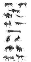 silhouettes and concept sketches-forest