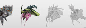 Orchid Lipped Dragons