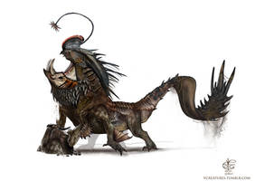 Mountain Cavum dragon by Vincent-Covielloart