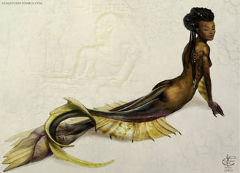 River Sphinx (Nile Mermaid) by Vincent-Covielloart