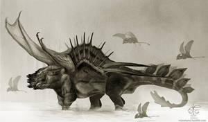 Bull dragon by Vincent-Covielloart
