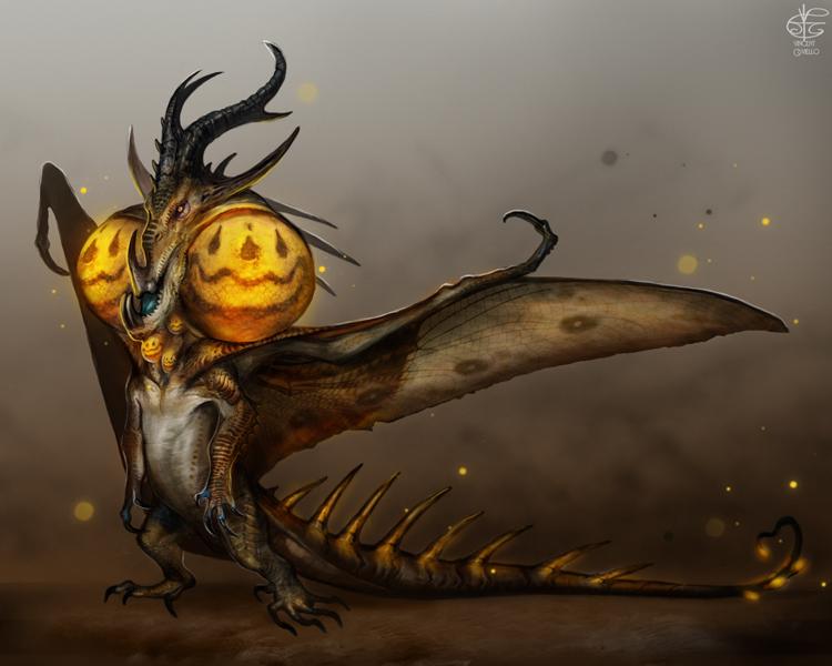 Jack O' Lantern Hydra by Vincent-Covielloart