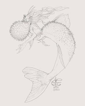 Pufferfish Mermaid