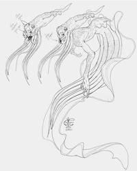Squid Mermaid by Vincent-Covielloart