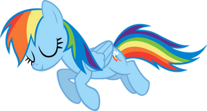 Sleeping Rainbow Dash by PonyEngineer