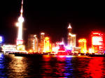 Shanghai Pier at Night