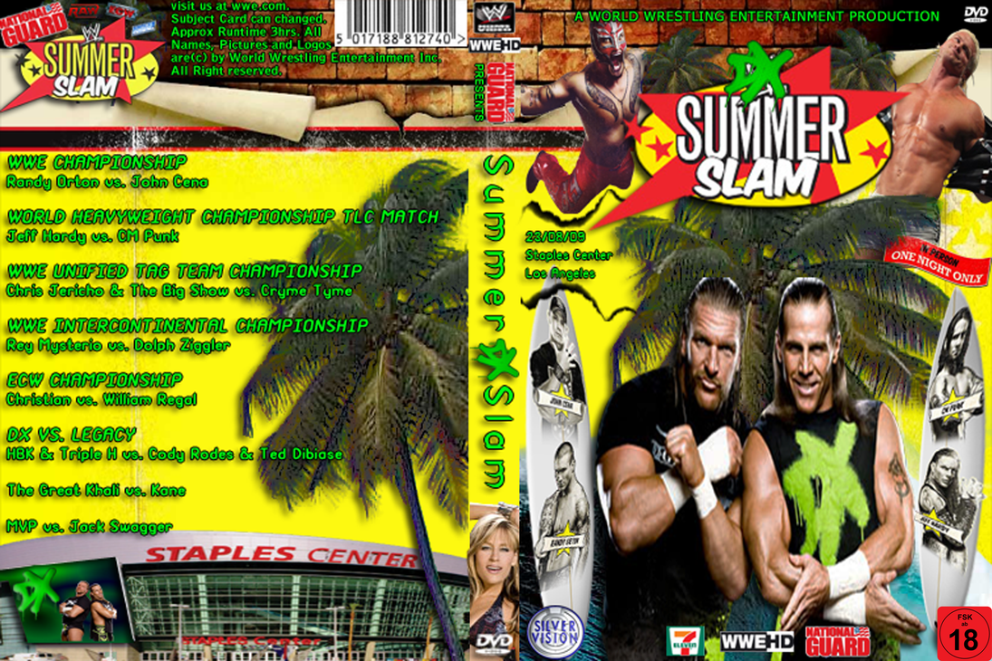 WWE SummerSlam 2009 Cover by AladdinDesign